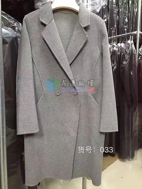 全新 纯手工制作 双面羊绒大衣 12月短款特价了